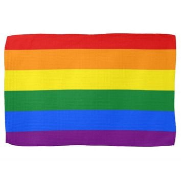 Kitchen towel with Rainbow LGBT Pride Flag