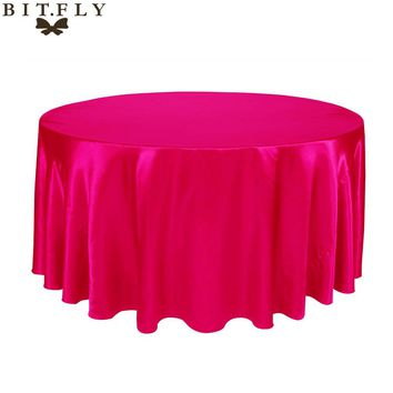 180x180cm 10pcs Square Table Cloth Cover Satin Tablecloth Waterproof Oilproof Wedding Party Banquet Home DIY Decoration red