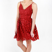 Holly Golightly Dress - Red
