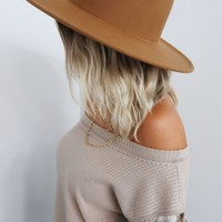 Tell The World Hat: Tan