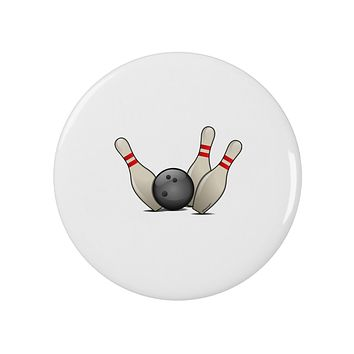 """Bowling Ball with Pins 2.25"""" Round Pin Button"""