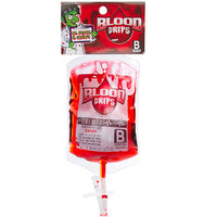 Strawberry Liquid Candy Blood Bags: 12-Piece Box