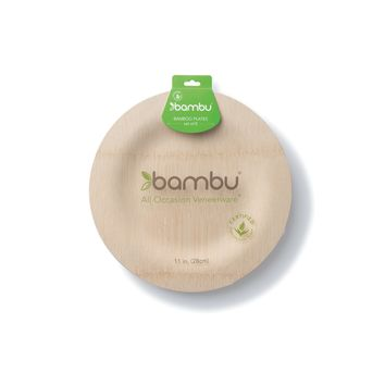 All Occasion Veneerware® Bamboo Plates, Round