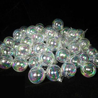 32 Christmas Ornaments - Iridescent Clear
