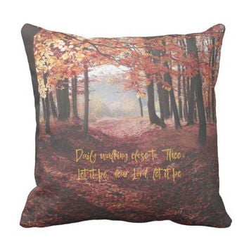 Christian Hymn Lyric Throw Pillow
