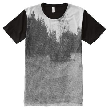 Drawing pond small Island All-Over-Print T-Shirt