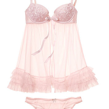 Bow Embroidered Babydoll - Very Sexy - Victoria's Secret
