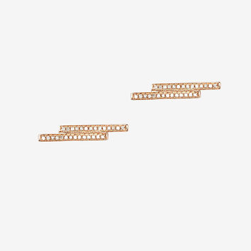 19Fifth Diamond Duo Bar Stud Earrings | Shop IntermixOnline.com