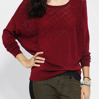 Urban Outfitters - Pins And Needles Textured Yoke Dolman Sweater