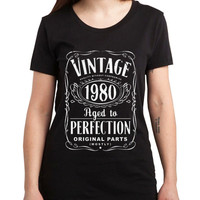 Vintage Aged Of Perfection 35th Women Tshirt