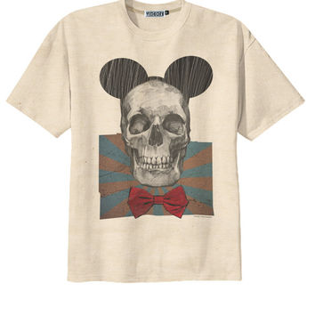 Retro Mickey Mouse Skull Emo Punk Rock T-Shirt Tee Organic Cotton Vintage Look Size S M L
