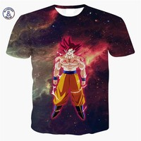 Mr.1991INC&Miss.GO 2017 Newest Cute Kid Goku 3D t shirt DBZ t shirts Men Casual tees Anime Dragon Ball Z Super Saiyan t shirts