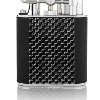 Dunhill Turbo Carbon Fiber, Black Rubber Rhodium Plated Lighter