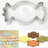 Stainless Steel Candy Shape Cookie Cutter Biscuit Cake Baking Mold Mould Tool