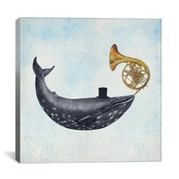 iCanvas 'Whale Song Blue Square - Terry Fan' Giclee Print Canvas Art,