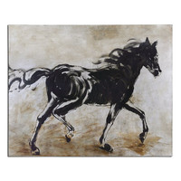 Uttermost Blacks Beauty Horse Art - 34262