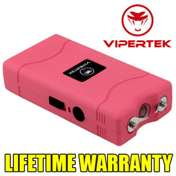 VIPERTEK Mini Stun Gun 35 Million Volt Rechargeable LED Flashlight