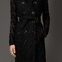 Floral Lace Trench Coat