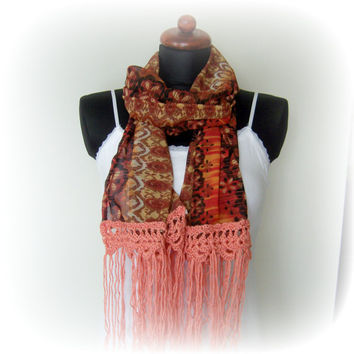 Red Fashion Scarf