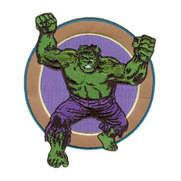 Incredible Hulk Men's Running Embroidered Patch Multi