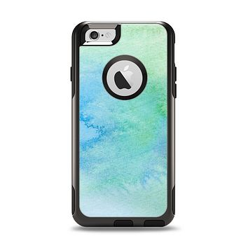 The Subtle Green & Blue Watercolor Apple iPhone 6 Otterbox Commuter Case Skin Set