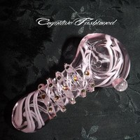 Pink Girly Glass Pipe Color Changing Crystals from Cognitive Fashioned