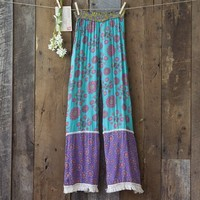 Turquoise  &  Purple  Indie  Print  Lounge  Pants  From  Natural  Life