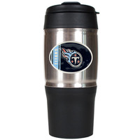 NFL Tennessee Titans 18 oz Heavy Duty Travel Tumbler - Oval Logo