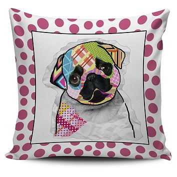 Collage Pup Pug Pillow Cover