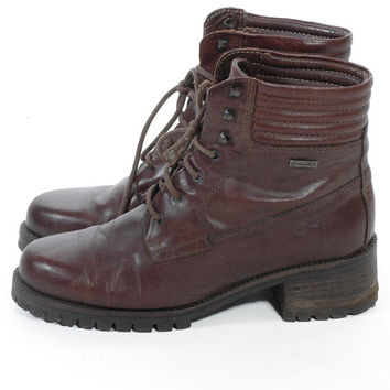 Vintage Mario Rossi Brown Leather Ankle Boots 6 - www.brickvintage.com
