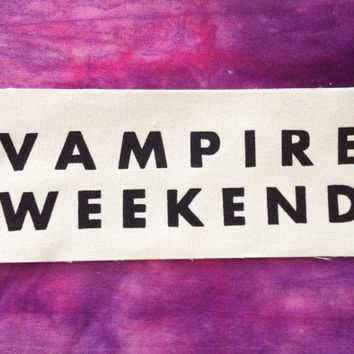 Vampire Weekend Off White Fabric Sew On Patch