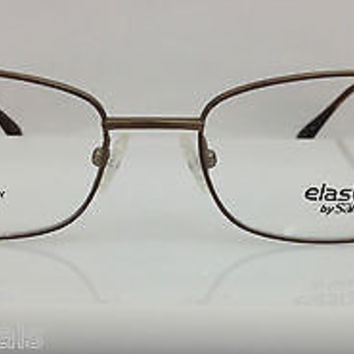 Safilo Elasta 7198T Col 01A4 Light Brown Metal Eyeglasses Frame 54mm 18mm 145mm