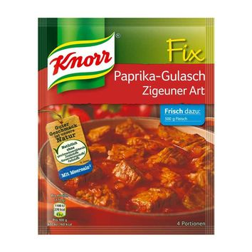 Knorr Fix Gypsy Style Paprika Goulash Mix, from Germany, 1.8 oz