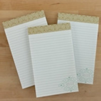Gold Geometry Notepad - gold