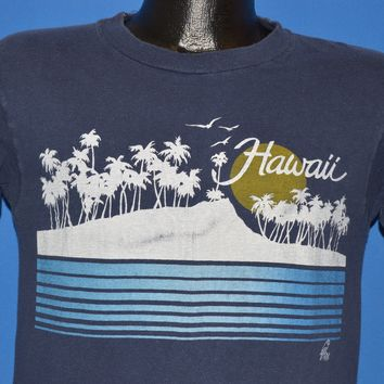 80s Hawaii Sunset Palm Trees Vacation t-shirt Small