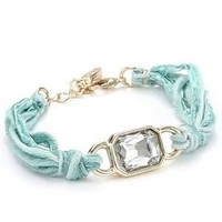 "Ettika ""Vintage Ribbon"" Turquoise-Color Bracelet Gold Rectangular Gem: Jewelry: Amazon.com"