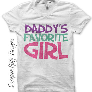 Iron on Daddys Favorite Girl Shirt - Fathers Day Iron on Transfer / Daddys Girl Outfit / Newborn Girl Going Home Outfit / Digital IT238-R