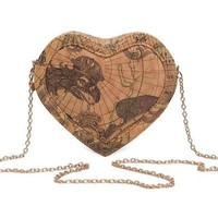 Heart World Map Bag