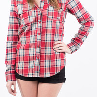 Red Hooded Flannel