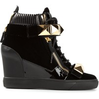 Giuseppe Zanotti Design wedge heel hi-top sneakers