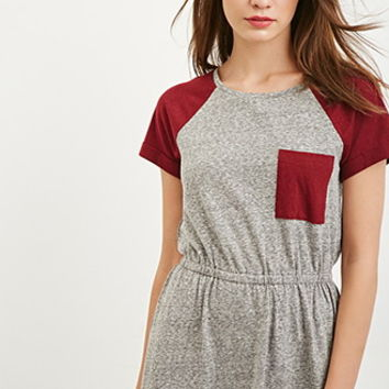 Heathered Colorblock Dress