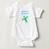 Daddy's Co Pilot Baby Jersey Bodysuit