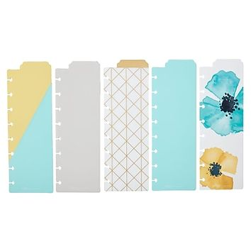 Martha Stewart Discbound™ Bookmark Dividers, 5-pack, Blue (44906) | Staples