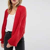 ASOS Chunky Cardigan In Fluffy Rib at asos.com