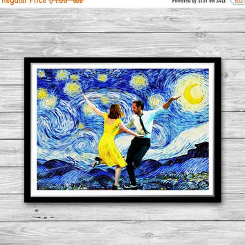 20% OFF La La Land Poster, La La Land Starry Night Print, city of stars print wall art