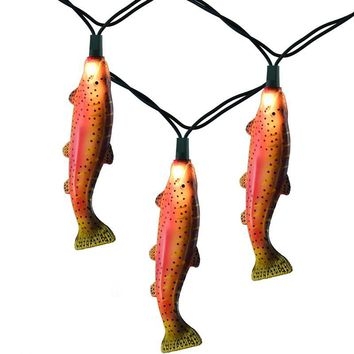 Rainbow Trout Fish Party String Lights, 10 FT