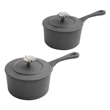 The Pioneer Woman Timeless Beauty Mini Preseason Plus Cast Iron Sauce Pans, Set of 2 - Walmart.com