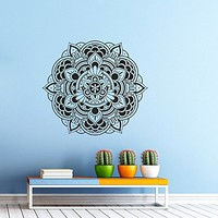 Mandala Wall Decal Vinyl Sticker Decals Lotus Flower Yoga Namaste Indian Ornament Moroccan Pattern Om Home Decor Bedroom Art Design Interior NS295