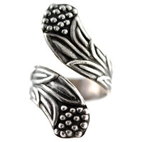 Taxco Sterling Silver Bypass Ring Wrap Around