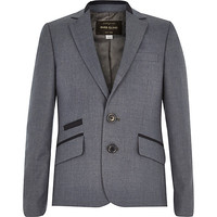 River Island Boys navy suit jacket